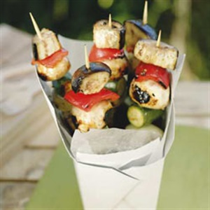 roast vegetable kebabs