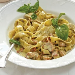 Quick And Creamy Bacon And Mushroom Pasta Food24