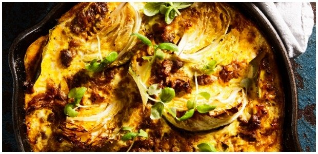 Cabbage Bobotie With Tomato Chutney Food24