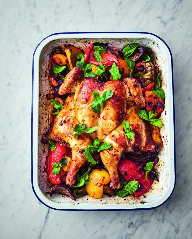 Jamie Oliver's 5-ingredient harissa chicken traybake