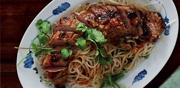 sweet chilli noodles with pork