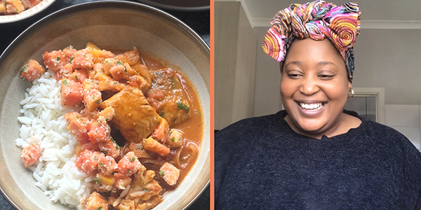 Zola Nene's fish curry with Neofresh papaya salsa