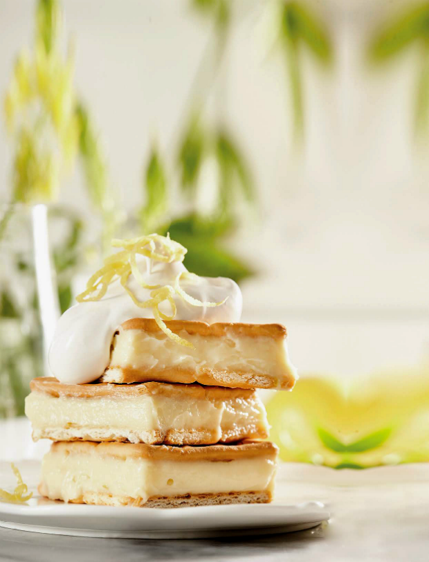 lemon meringue custard slices