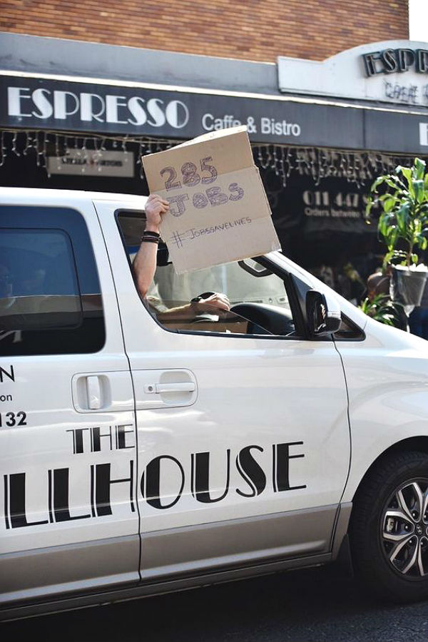 SEE: South Africa's restaurants take to the streets for #JobsSaveLives peaceful protest