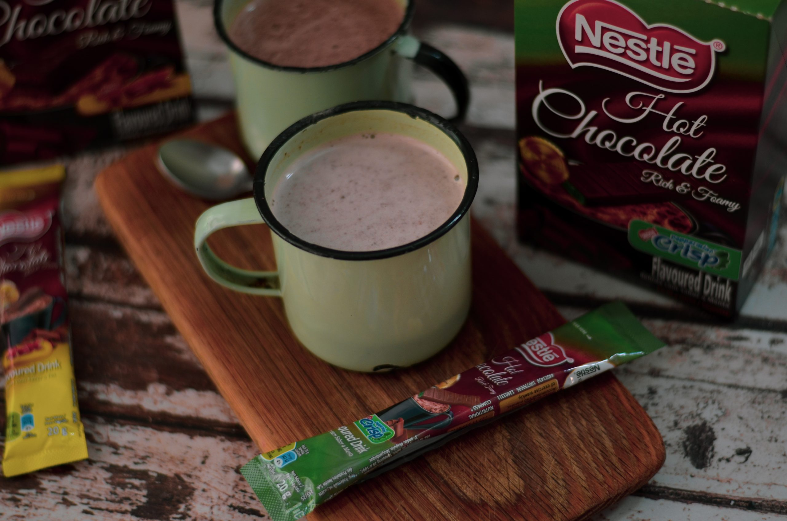 Big news for chocolate lovers: We taste the brand new Peppermint Crisp and Tex flavoured hot chocolates