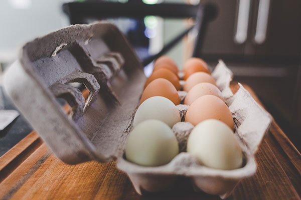 eggs on counter