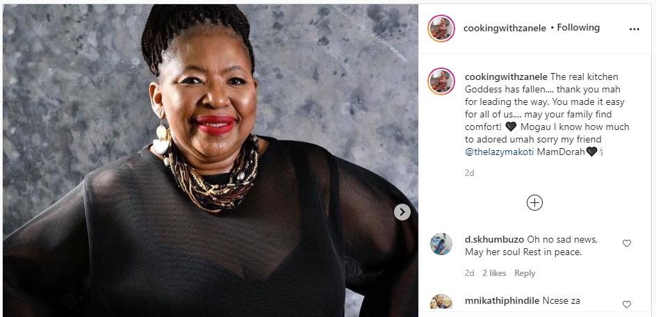 SA foodies mourn Dorah Sitole - see the social media tributes