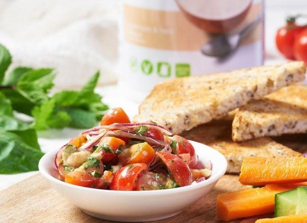 tomato and mushroom salsa on toast