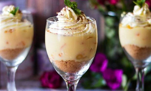 Easy fruity custard dessert