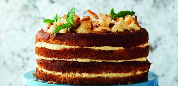 vanilla chiffon and custard layer cake