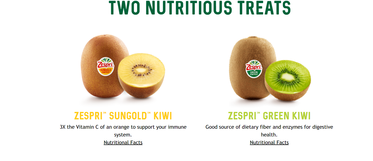 Nutritional Zespri kiwifruit