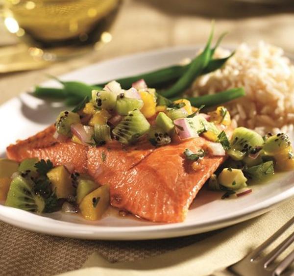 salmon and kiwi salsa