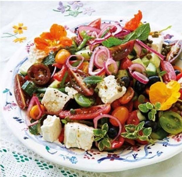 herby greek salad